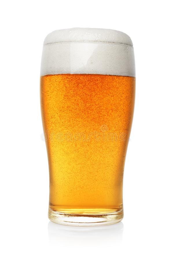 Free Pint Of Beer Isolated Stock Image - 128016671