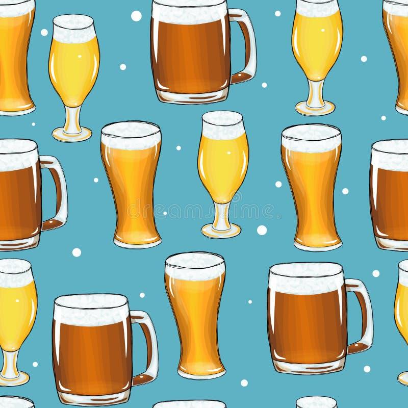 Pint van de tegel van de biermok stock illustratie