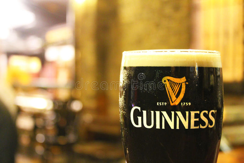 Pinta de Guinness fotos de archivo libres de regalías