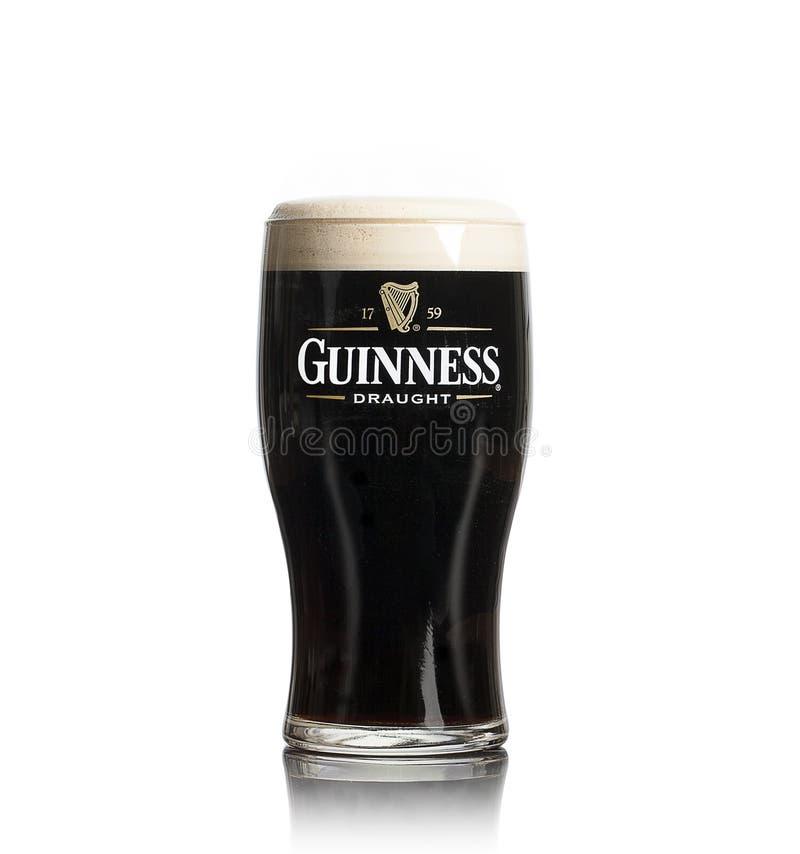 Pinta de Guinness en blanco foto de archivo libre de regalías
