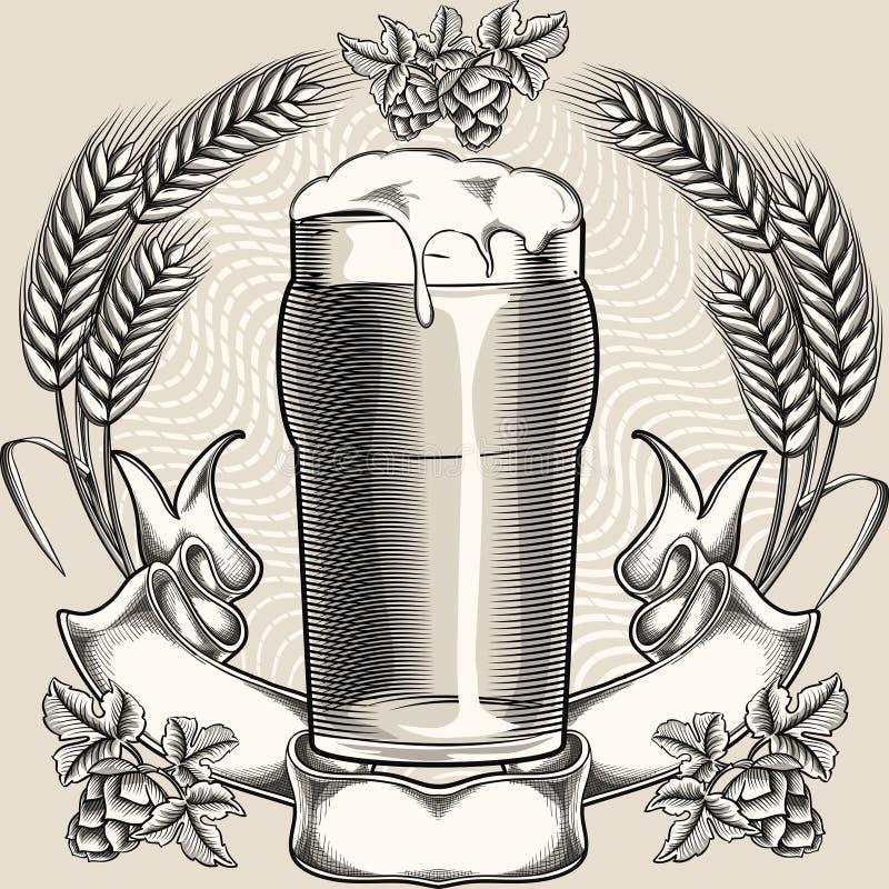 Pinta di birra illustrazione di stock