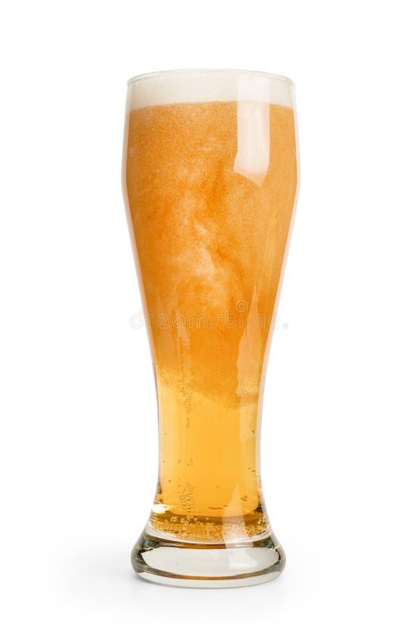 Pinta di birra isolata con il percorso di ritaglio fotografie stock