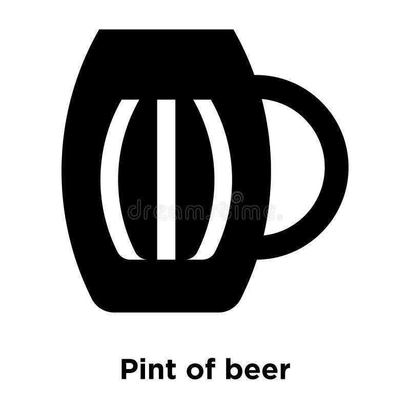 Pinta do vetor do ícone da cerveja isolada no fundo branco, logotipo concentrado ilustração do vetor