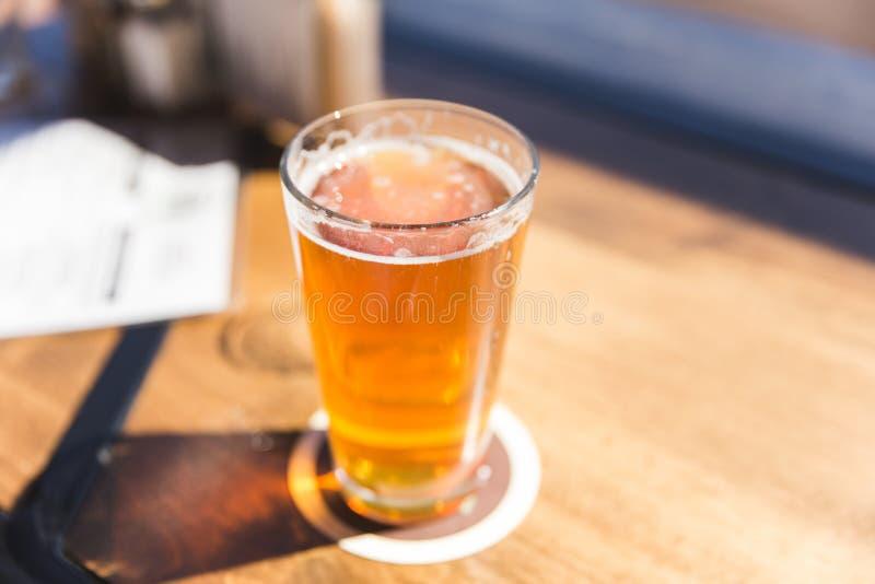 Pinta fresca di birra al sole immagini stock
