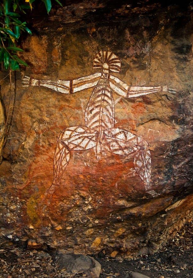 Pintada aborigen foto de archivo libre de regalías