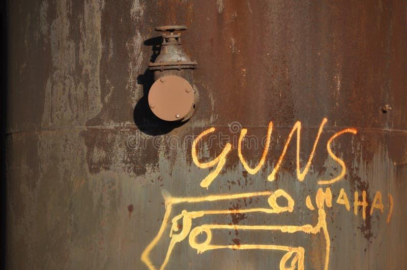 Pintada: ARMAS Haha foto de archivo