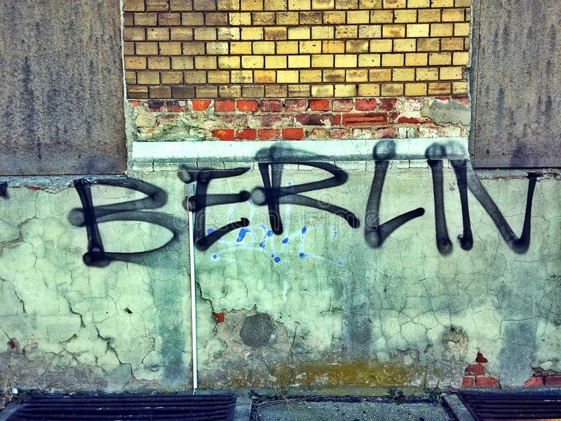 Pintada de Berlín stock de ilustración