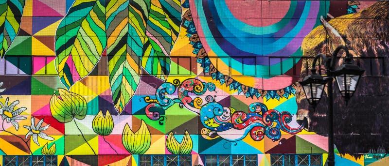 Pintada de la pared de la calle en Minsk Bielorrusia imagen de archivo libre de regalías