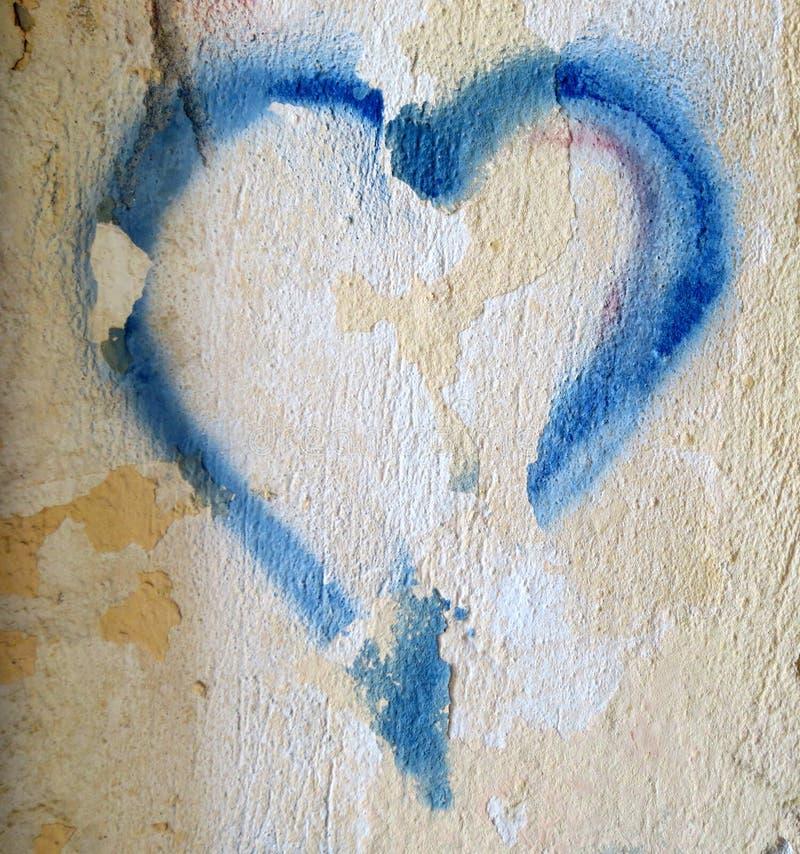 Pintada del corazón imágenes de archivo libres de regalías