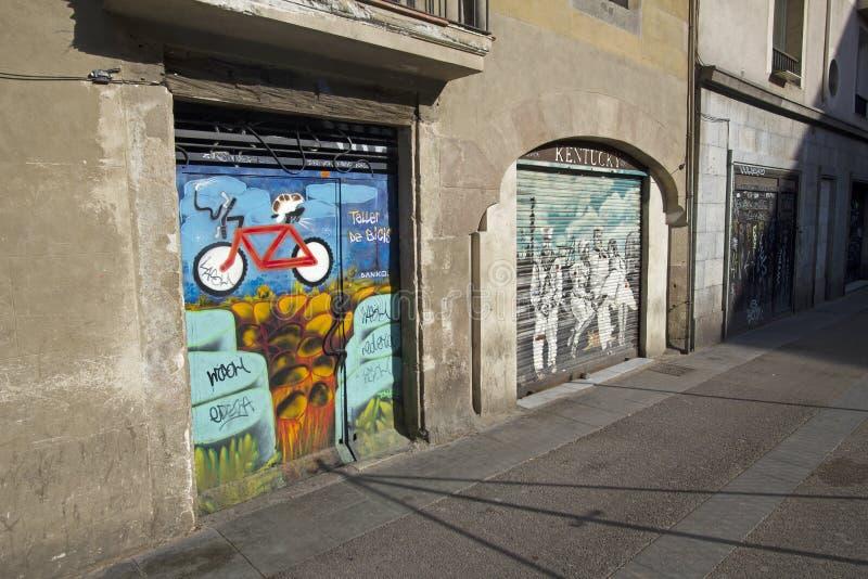 Pintada en Barcelona imagen de archivo libre de regalías