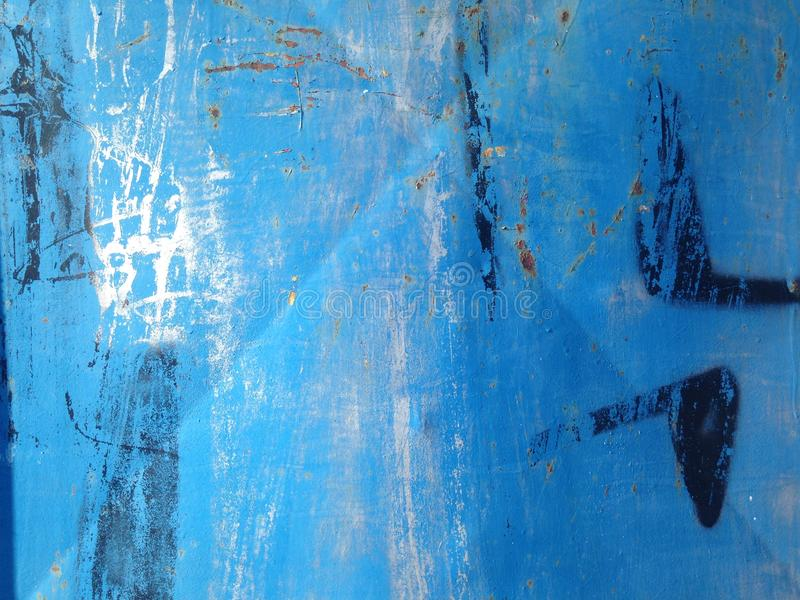 Pintada en la vertiente vieja del autobús imagen de archivo libre de regalías