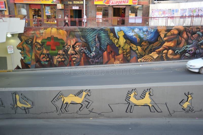 Pintada en las calles de La Paz foto de archivo libre de regalías