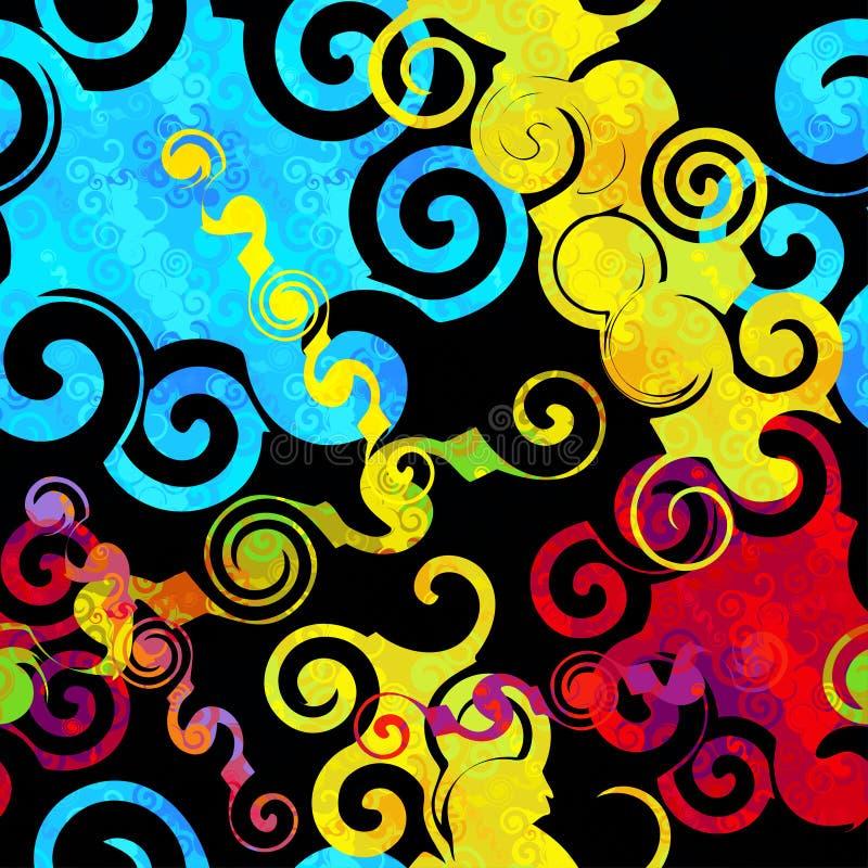 Download Pintada En Una Textura Inconsútil Del Grunge Del Modelo Del Fondo Del Color Negro Del Extracto Ilustración del Vector - Ilustración de futurista, hermoso: 64205313