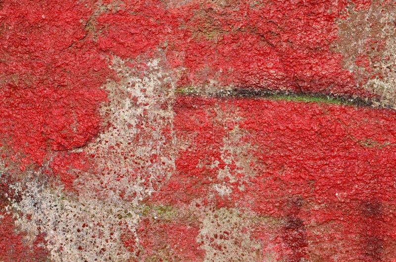 Pintada roja de decaimiento fotografía de archivo libre de regalías