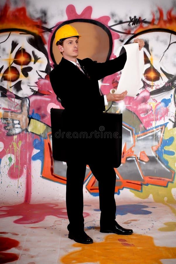 Pintada urbana del supervisor foto de archivo libre de regalías