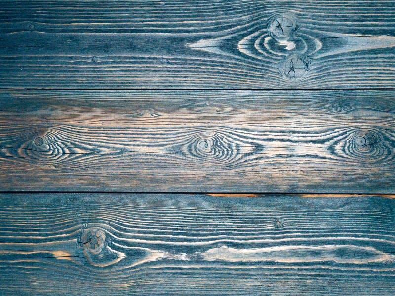 Pintado no azul, obscuridade - azul, o fundo de madeira do pinho embarca, imagens de stock royalty free
