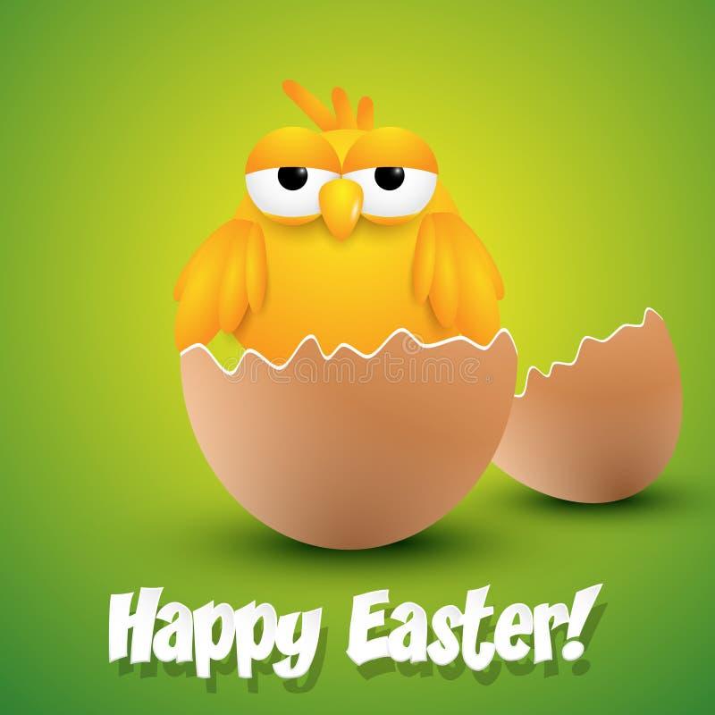 Pintainho pequeno que choca de um ovo ilustração royalty free