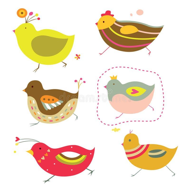 Pintainhos bonitos ilustração royalty free