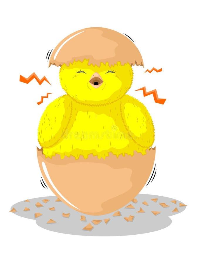 Pintainhos nas cascas de ovo ilustração stock