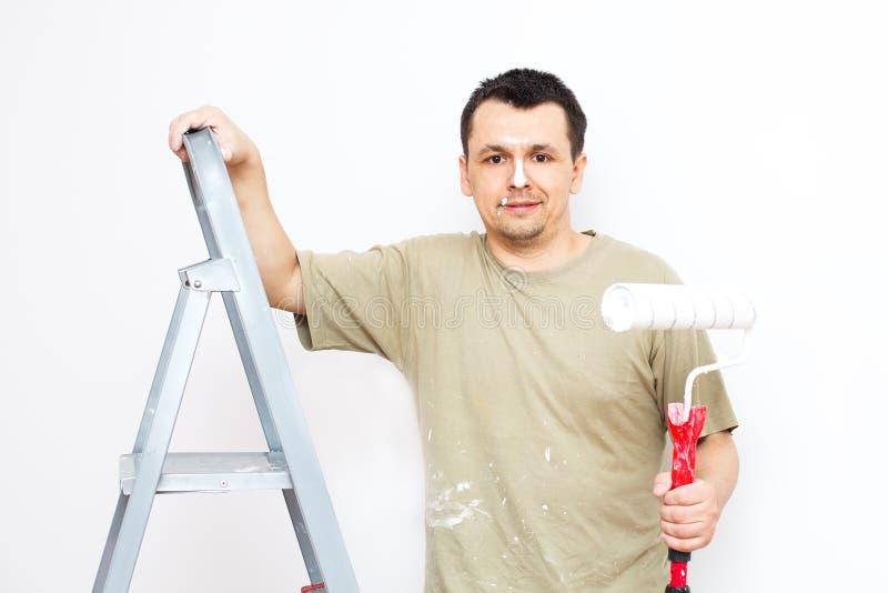 Pintando o apartamento fotos de stock