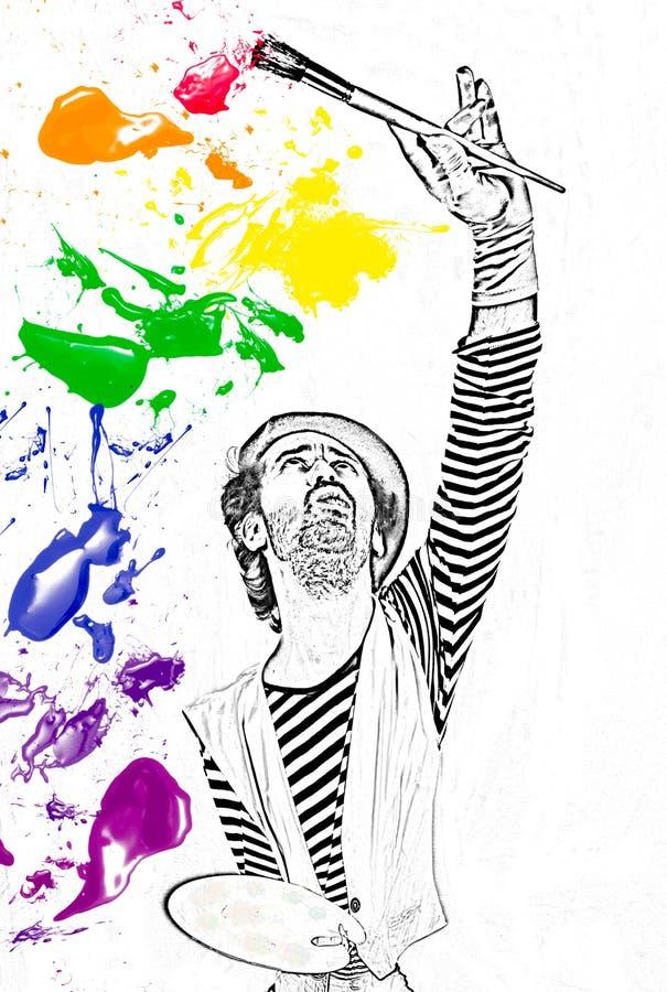 pintando o espectro de cor fotografia de stock
