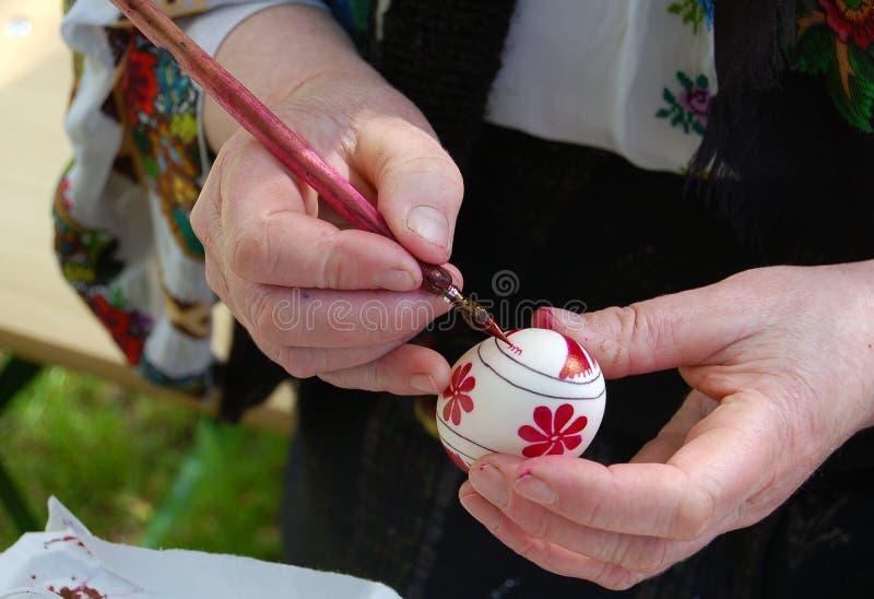 Pintando o ovo imagem de stock royalty free