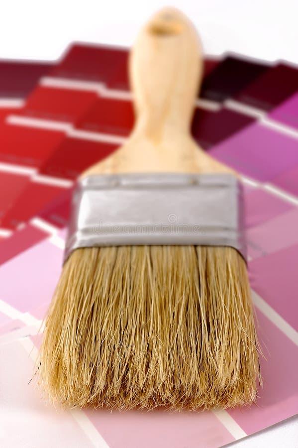 Pinte amostras da cor com escova imagem de stock royalty free