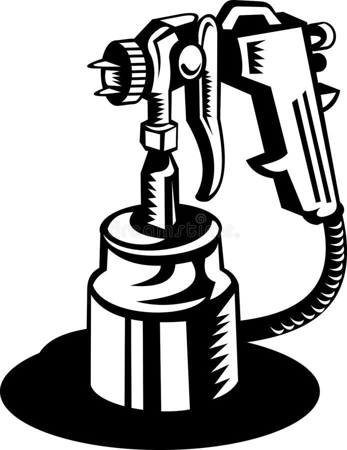Pinte el arma de aerosol stock de ilustración