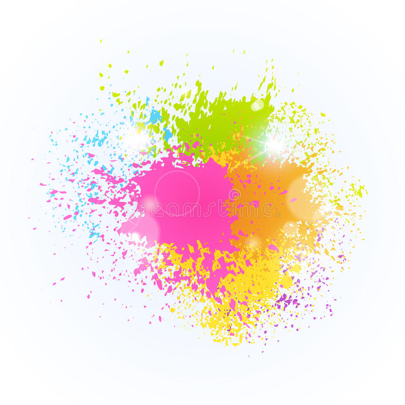 Pinte el carro tradicional del saludo de la celebración del día de fiesta feliz de Holi la India del festival del color del chapo libre illustration