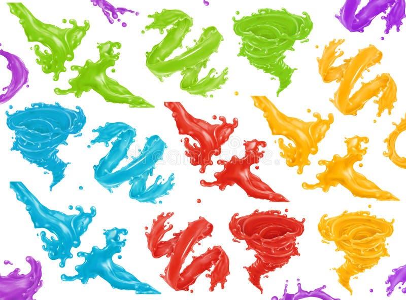 Pinte el chapoteo icono del vector 3d stock de ilustración