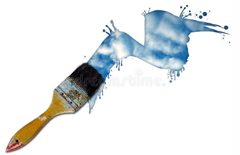 Pinte el cielo ilustración del vector