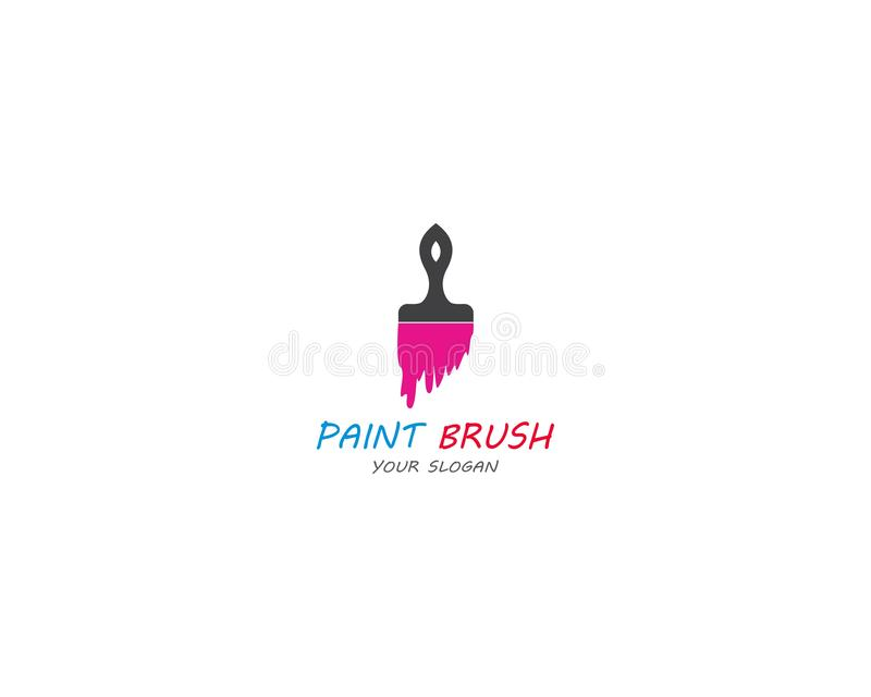 Pinte el dise?o del ejemplo del icono del vector de Logo Template stock de ilustración
