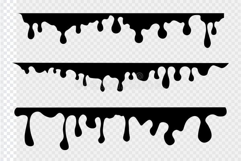 Pinte el fondo de los goteos ilustración del vector