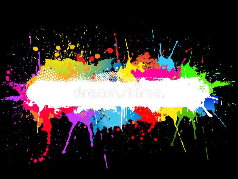 Pinte el fondo del splat stock de ilustración