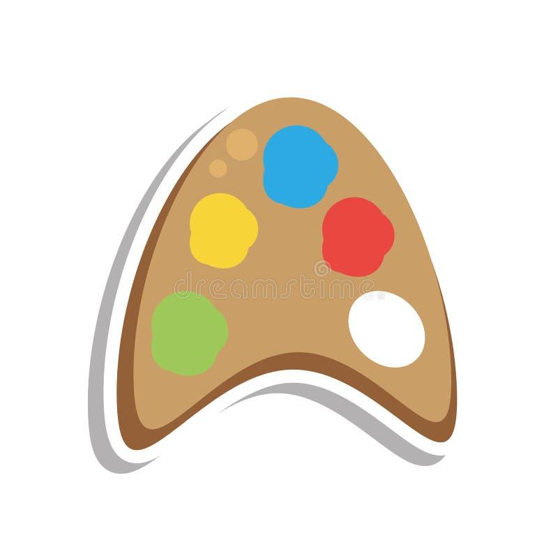 Pinte el icono aislado los colores del pallete ilustración del vector