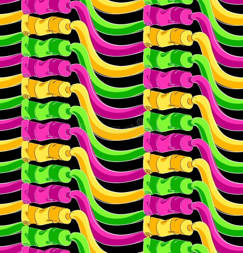 Pinte el modelo de los tubos ilustración del vector