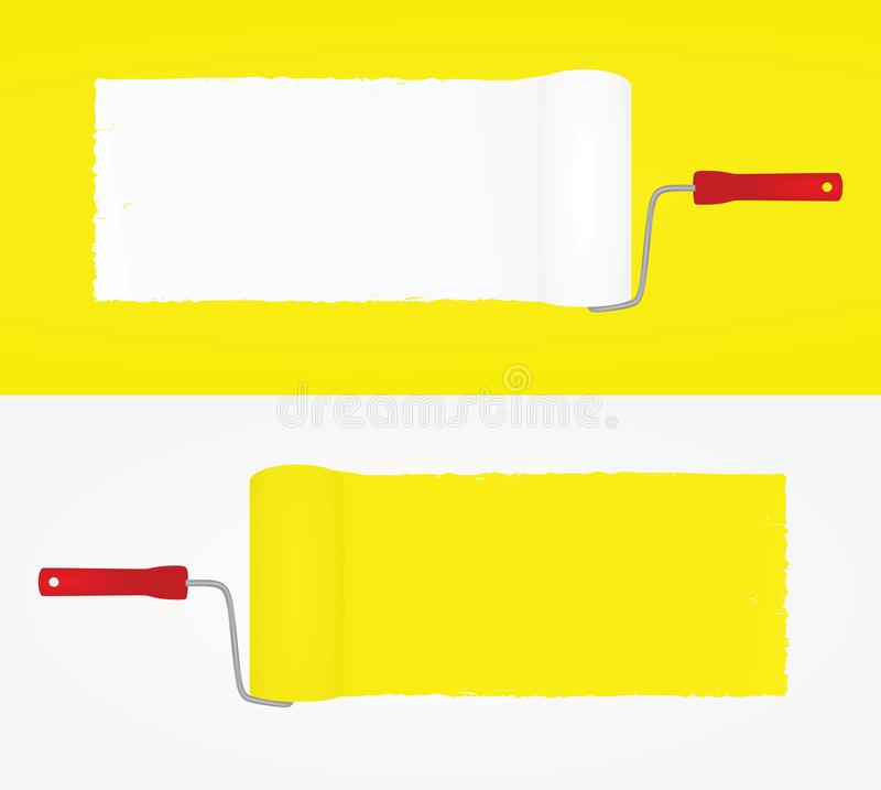 Pinte el rastro Blanco y amarillo libre illustration