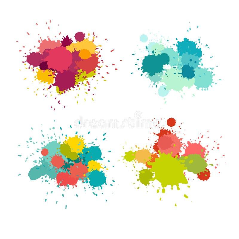 Pinte el sistema del vector del splat libre illustration