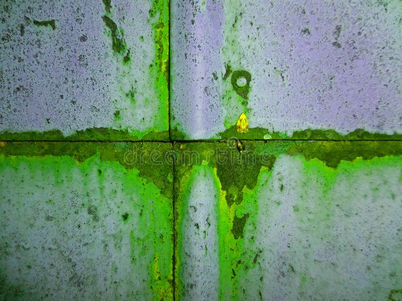 Pinte el verde del fondo de la textura del metal gris imagen de archivo