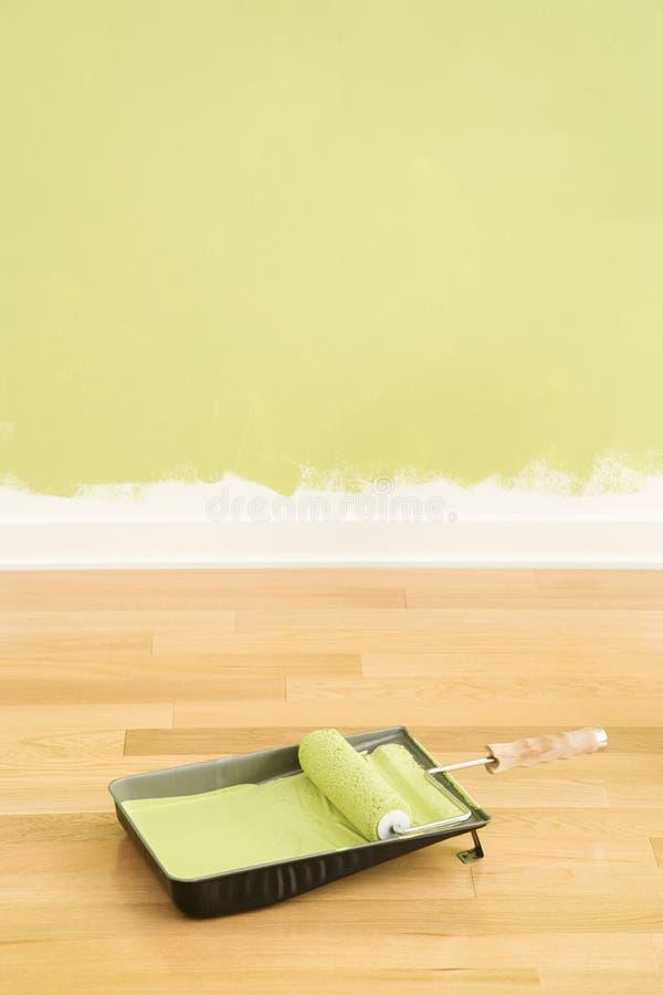 Pinte fontes e parede. foto de stock royalty free