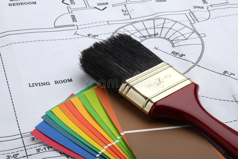 Pinte la casa imágenes de archivo libres de regalías