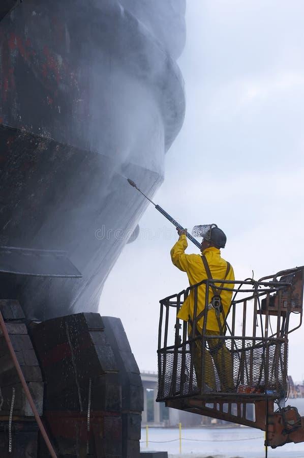 Pinte la nave lista foto de archivo