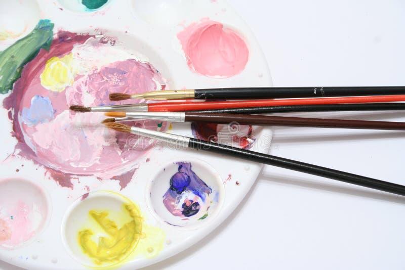 Pinte la paleta imagen de archivo libre de regalías