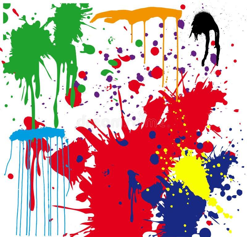 Pinte la salpicadura stock de ilustración