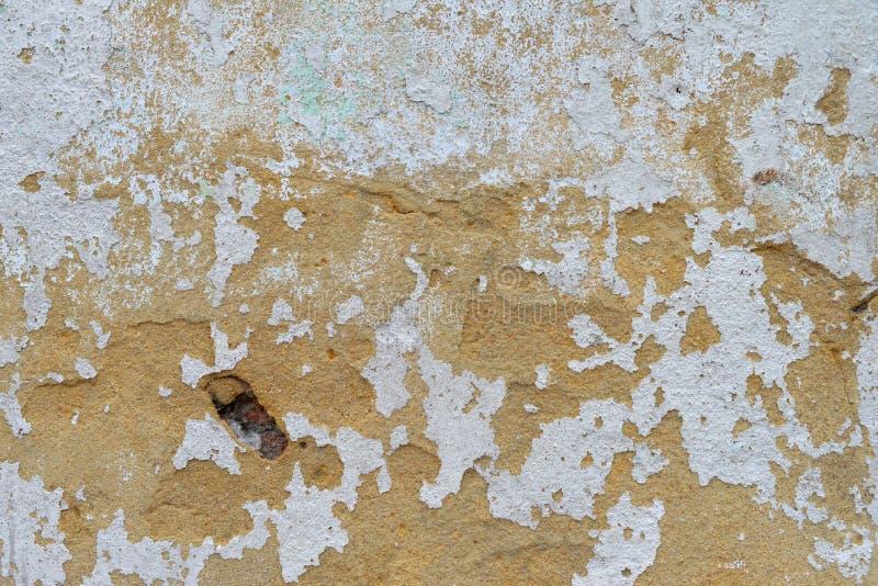 Pinte la superficie pelada de la pared foto de archivo libre de regalías