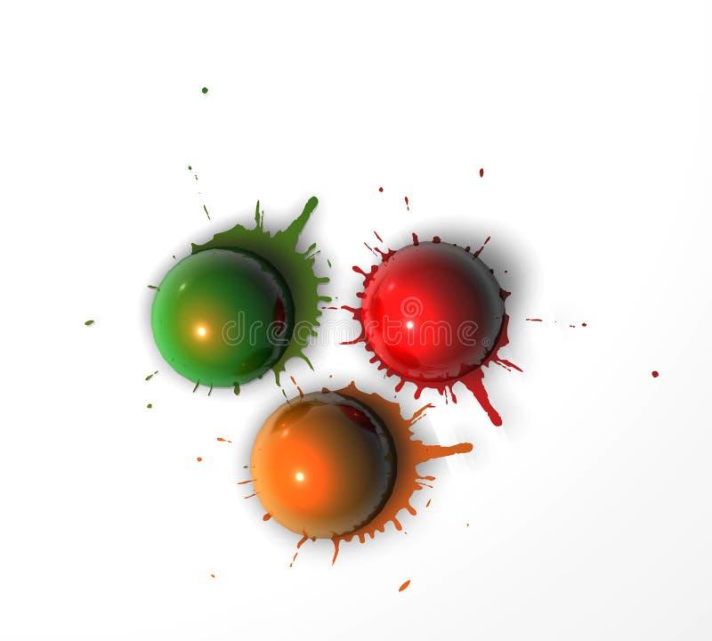 Pinte las bolas fotos de archivo libres de regalías
