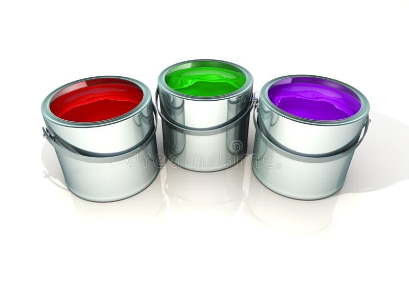 Pinte latas ilustração do vetor