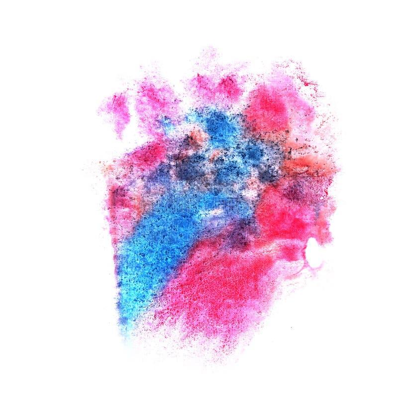 Pinte mancha blanca /negra azul, rosada, anaranjada de la tinta del chapoteo y el arte abstracto blanco fotos de archivo