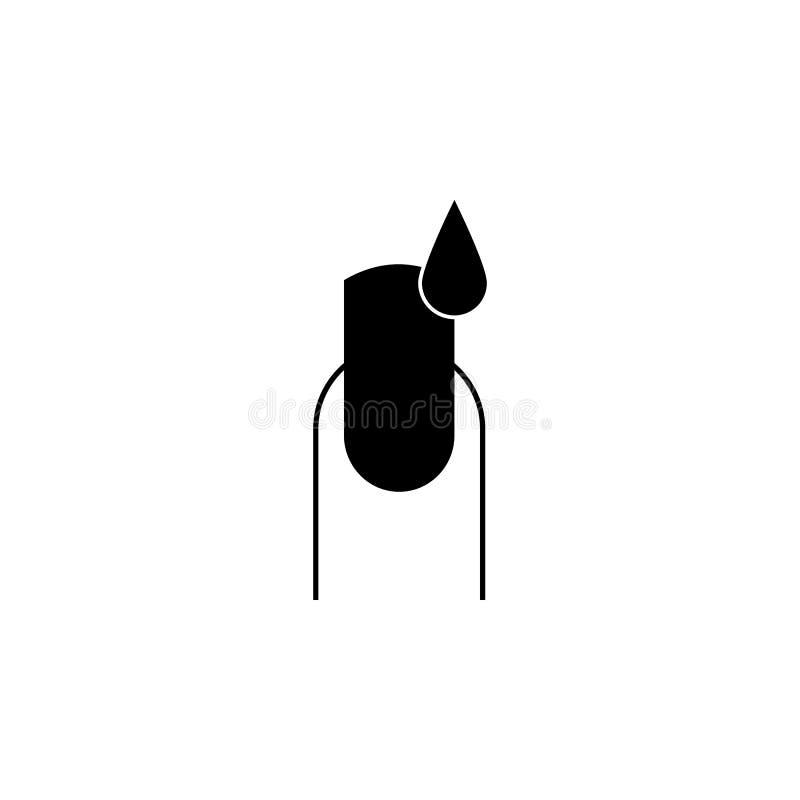 Pinte o ícone dos pregos Elementos do ícone do bar da beleza Projeto gráfico da qualidade superior Sinais, ícone da coleção dos s ilustração stock