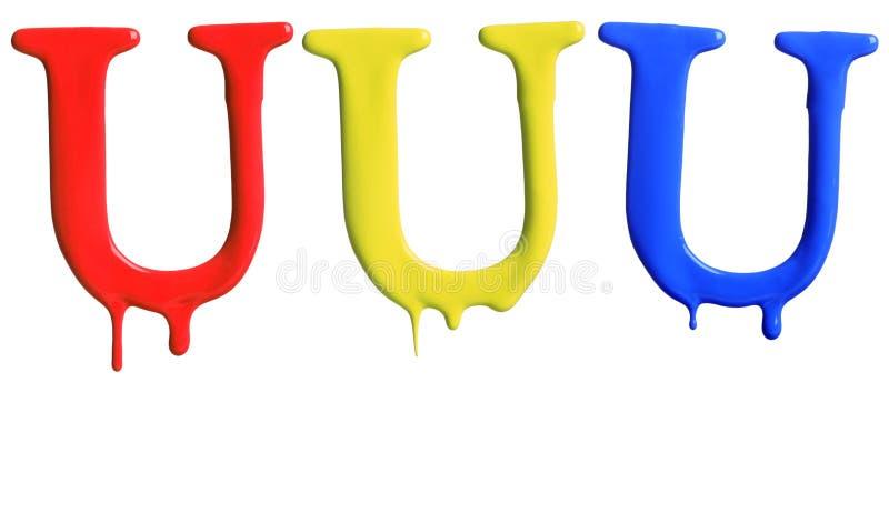 Pinte o alfabeto do gotejamento imagem de stock royalty free